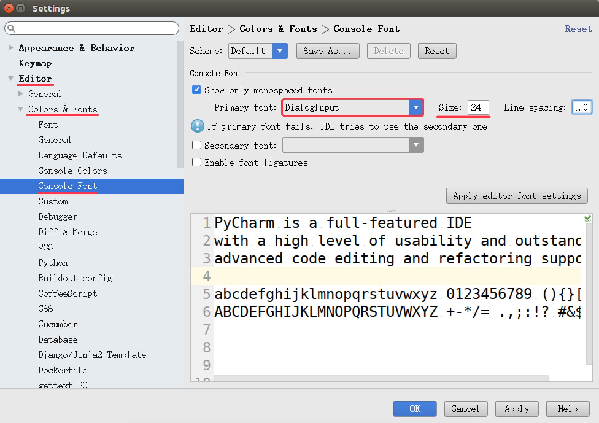 008_PyCharm设置控制台字体.png